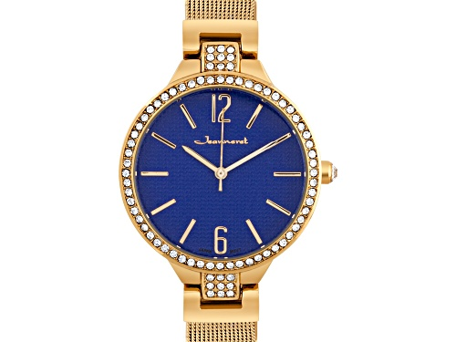 Photo of Jeanneret Jura Ladies Watch Rose Mesh Band And Blue Dial