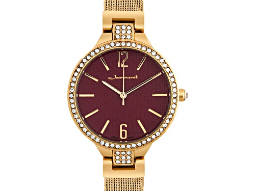 Photo of Jeanneret Jura Ladies Watch Rose Mesh Band And Red Dial