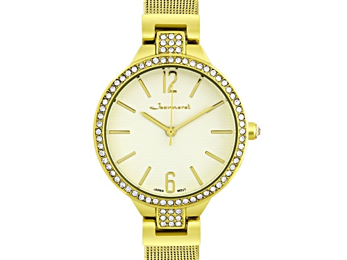 Photo of Jeanneret Jura Ladies Watch Gold-Tone Mesh Band And Eggshell Eggshell Dial