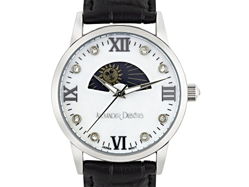 Photo of Casual Moon Phase Dial Ladies Leather Watch