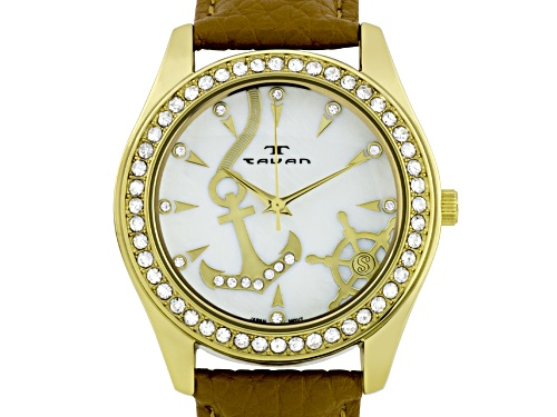 Photo of Tavan Nautical Ladies Watch Bone And Gold Tone