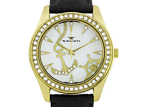 Photo of Tavan Nautical Ladies Watch Black And Gold Tone