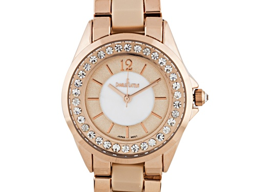 Photo of Pearlized Dial Core with Crystal Bezel Ladies Watch