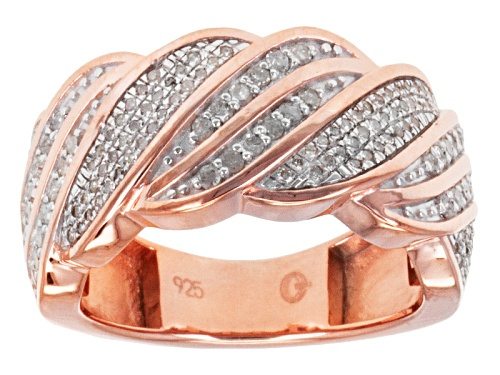 Photo of .50ctw Round Diamond 14k Rose Gold Over Sterling Silver Band - Size 6