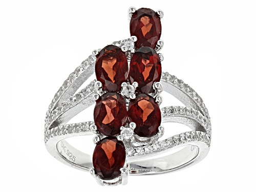 Photo of 2.88ctw Oval Vermelho Garnet™ With .57ctw Round White Zircon Sterling Silver Ring - Size 6