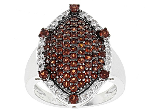 Photo of 1.59ctw Round Vermelho Garnet™ With .34ctw White Zircon Sterling Silver Ring - Size 6