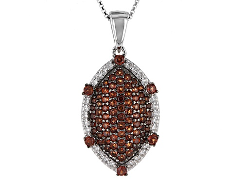 Photo of 1.59ctw Round Vermelho Garnet™ With .34ctw White Zircon Sterling Silver Pendant With Chain