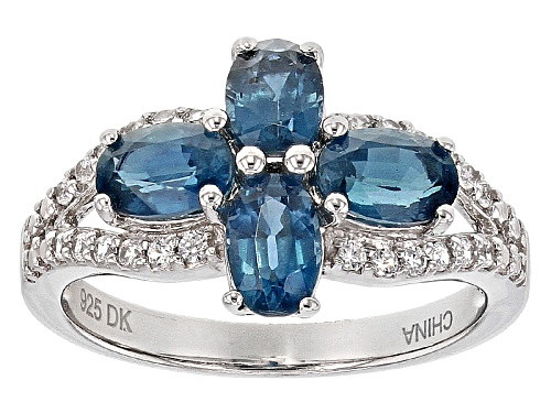 Photo of 2.00ctw Oval Chromium Kyanite And .22ctw Round White Zircon Sterling Silver Ring - Size 8