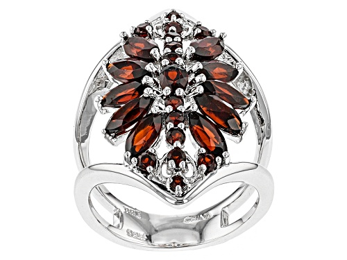 Photo of 3.33ctw Oval, Marquise And Round Vermelho Garnet™ Sterling Silver Ring - Size 6