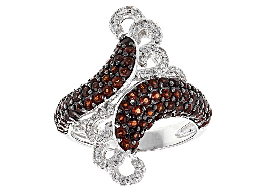 Photo of 1.57ctw Round Vermelho Garnet™ With .30ctw White Zircon Sterling Silver Ring - Size 8