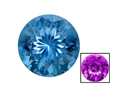 Photo of Zandrite ® Color Change Blue To Purple Avg 1.75ct 8mm Round
