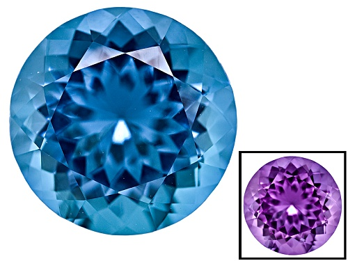 Photo of Zandrite® Color Change Blue To Purple Avg 2.50ct 9mm Round
