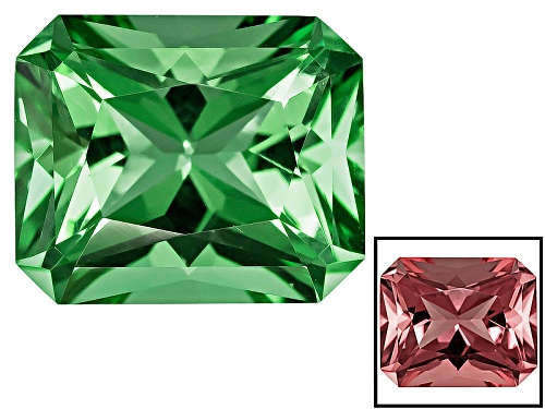 Photo of Zandrite® Color Change Green To Pink Avg 3.25ct 11x9mm Rectangular Octagonal Radiant Cut