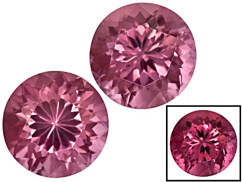 Photo of Cranberry Zandrite® Color Change Set Of Two Avg 5.00ctw 8mm Round