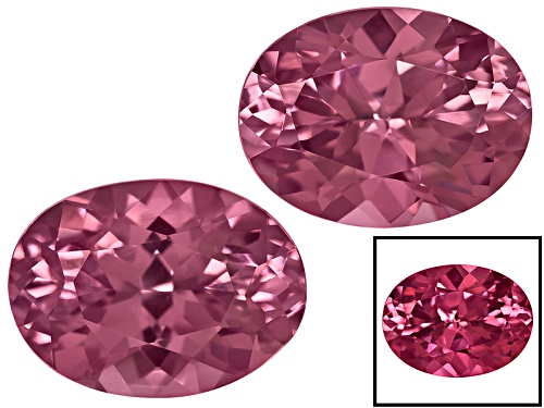 Photo of Cranberry Zandrite® Color Change Set Of Two Avg 3.00ctw 8x6mm Oval