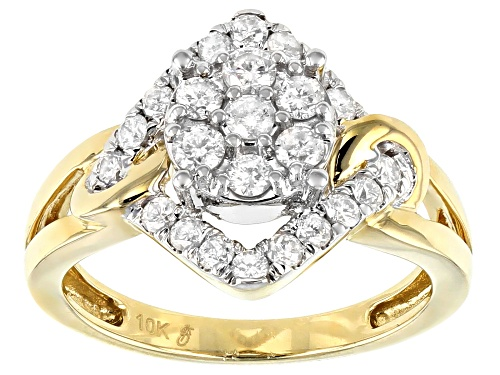 Photo of .75ctw Round White Diamond 10k Yellow Gold Ring - Size 8