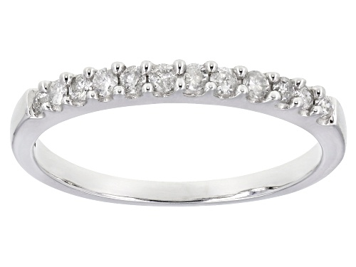 Photo of 0.22ctw Round White Diamond 10K White Gold Ring - Size 8