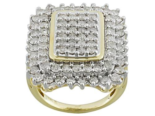 Photo of 3.00ctw Round White Diamond 10k Yellow Gold  Ring - Size 5