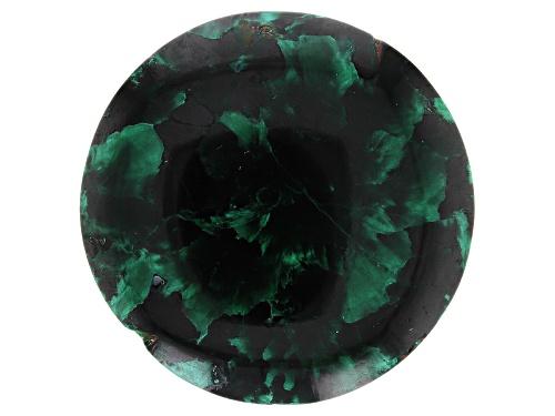 Morenci Mine Fibrous Malachite 108.75ct 40mm Round Cabochon