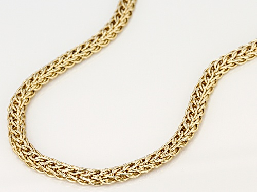 10k Yellow Gold 4.5mm Round Wheat 18 Inch Necklace - Size 18