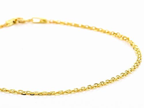 10K Yellow Gold 1.60MM Bismark Chain Bracelet - Size 8