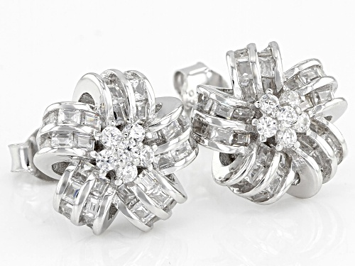 Bella Luce ® 1.46CTW White Diamond Simulant Rhodium Over Sterling Silver Earrings (1.38CTW DEW)