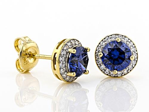 Bella Luce®3.17ctw Esotica™Tanzanite and Diamond Simulants Eterno™Yellow Earrings(1.88ctw DEW)