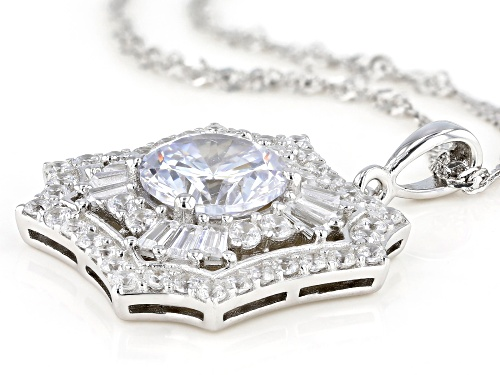 Bella Luce ® 7.99ctw Rhodium Over Sterling Silver Pendant With Chain (4.37ctw DEW)