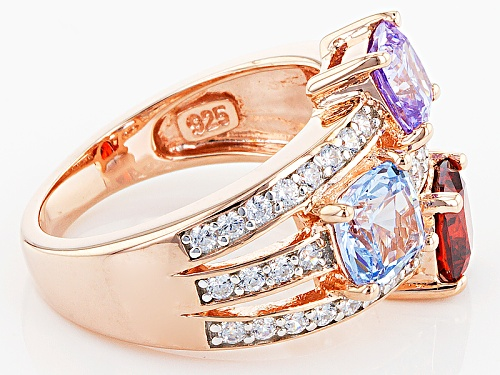 Bella Luce ® 5.13ctw Ruby, Lavender, Blue, And White Diamond Simulants Eterno ™ Rose Ring - Size 9