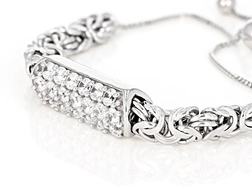 Bella Luce ® 3.60ctw Diamond Simulant Rhodium Over Sterling Silver Sliding Adjustable Bracelet