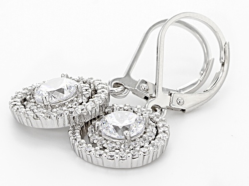Bella Luce® Dillenium 3.32ctw Round Rhodium Over Sterling Silver Earrings