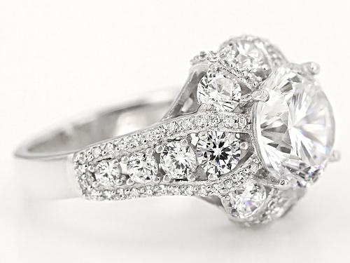 Bella Luce® Dillenium Cut 9.86ctw Diamond Simulant Rhodium Over Sterling Silver Ring (6.03ctw Dew) - Size 11