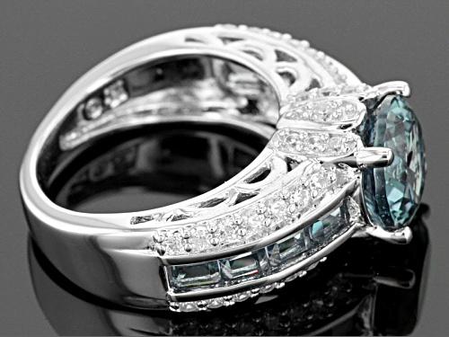 Bella Luce ® Esotica ™ 4.46ctw Alexandrite And White Diamond Simulants Rhodium Over Silver Ring - Size 8
