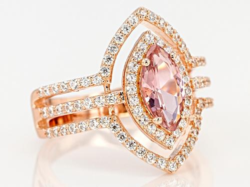 Bella Luce ® 2.16CTW Esotica ™ Morganite & White Diamond Simulants Eterno ™ Rose Ring - Size 11