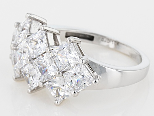 Bella Luce ® 6.40ctw White Diamond Simulant 10k White Gold Ring (3.9ctw Dew) - Size 7