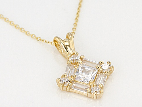 Bella Luce ® 1.73ctw 10k Yellow Gold Pendant With Chain (1.11ctw Dew)