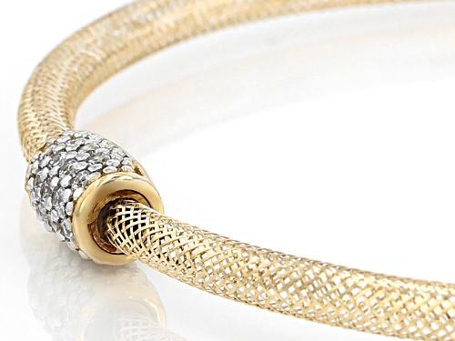 Bella Luce ® 0.16ctw White Diamond Simulant 10k Yellow Gold Bracelet - Size 7