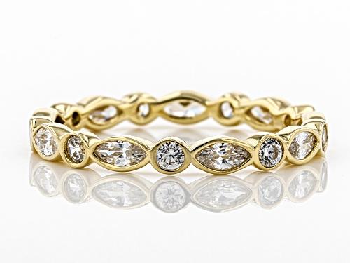 Bella Luce ® 1.89CTW White Diamond Simulant 10K Yellow Gold Ring (0.49CTW DEW) - Size 8