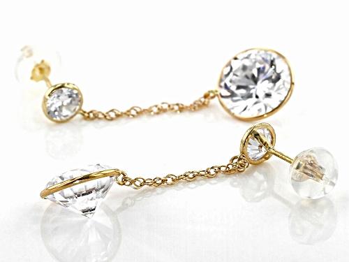 Bella Luce ® 7.39ctw White Diamond Simulant 10k Yellow Gold Earrings (4.58ctw DEW)