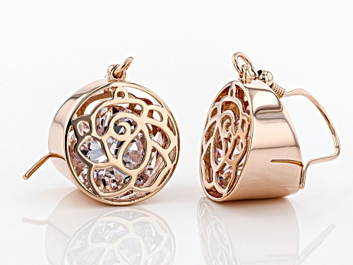 Bella Luce ® 13.31CTW White Diamond Simulant Eterno ™ Rose Gold Over Silver Earrings (7.74CTW DEW)