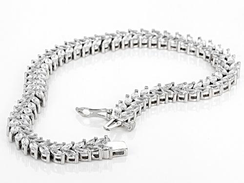 Bella Luce ® 13.41ctw White Diamond Simulant Rhodium Over Silver Tennis Bracelet (7.15ctw DEW) - Size 8