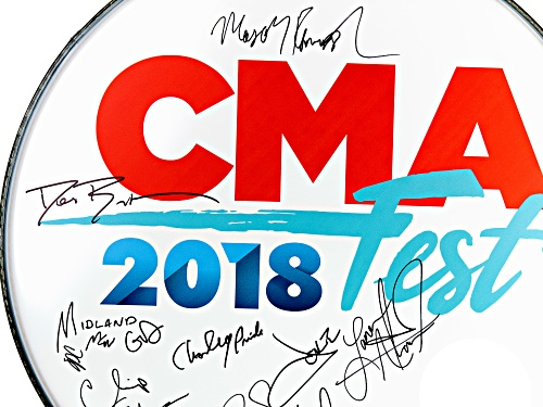 Back The Beat: 2018 CMA Fest Autographed Drumhead From Nissan Stadium Stage
