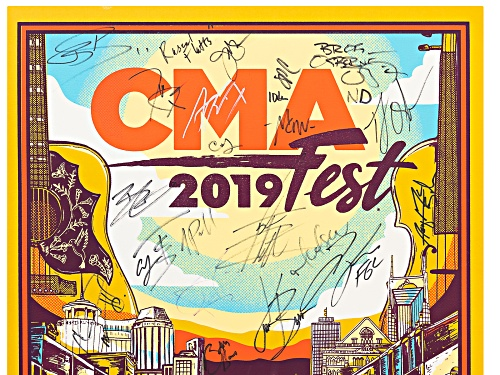 Back The Beat: 2019 CMA Fest Autographed Poster From Nissan Stadium