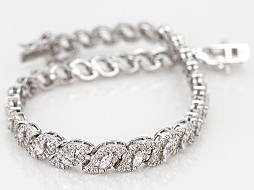 Bella Luce ® 5.30CTW White Diamond Simulant Rhodium Over Sterling Silver Bracelet - Size 7.5