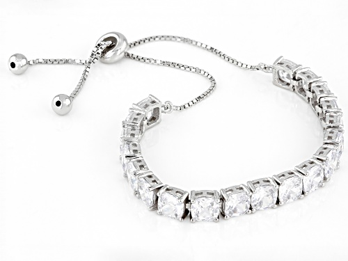 Bella Luce ® 14.08ctw White Diamond Simulant Rhodium Over Silver Adjustable Bracelet (8.74ctw DEW)