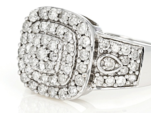 1.00ctw White Diamond 10k White Gold Ring - Size 8