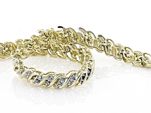 .50ctw Round White Diamond 10k Yellow Gold Bracelet - Size 7.25