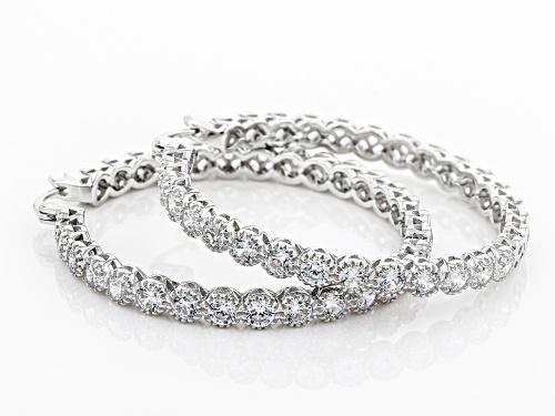 Cubic Zirconia Hoop Earrings 5.13ctw