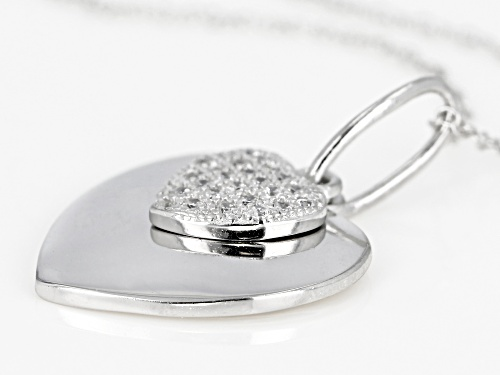 Bella Luce® 0.25ctw Rhodium Over Sterling Silver Pendant With Chain