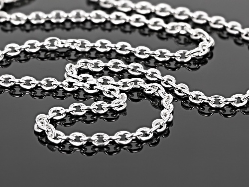 Sterling Silver 3.7MM Polished Cable Link Chain Necklace 20 Inch - Size 20